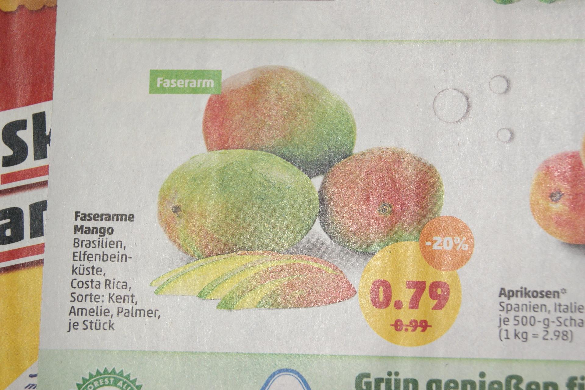 faserarme Mango bei Penny bundesweit für 79 Cent ab 13.5.