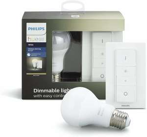 (2×) Philips Hue Dimmer-Kit 9,5W E27 (Amazon.es)