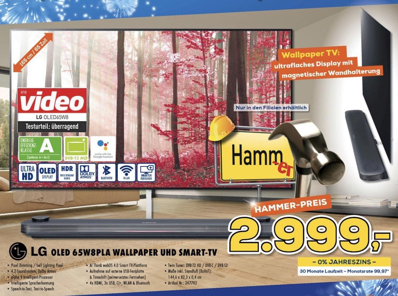 LG Oled 65W8PLA Wallpaper TV Lokal bei Berlet.
