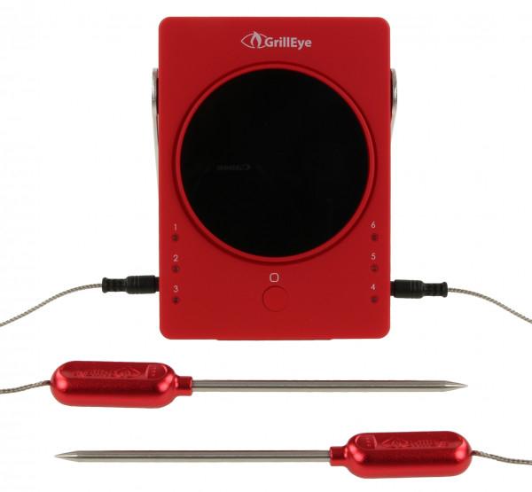 GrillEye Smart Bluetooth Thermometer | Grillthermometer mit App und 2 Fühlern