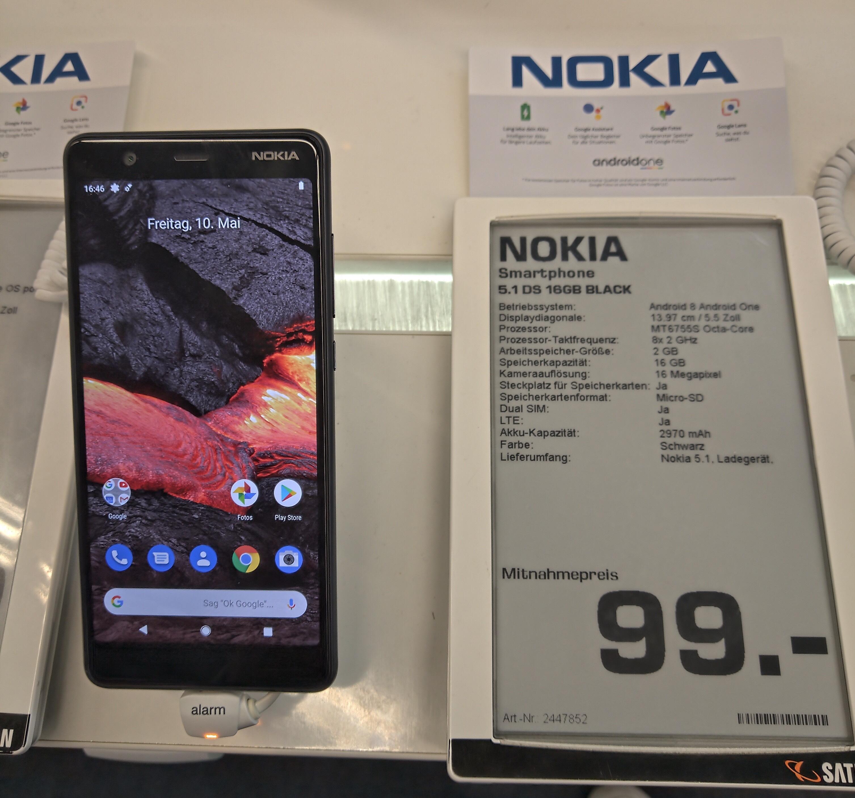 [LOKAL: Gelsenkirchen] NOKIA 5.1 16gb Dual-SIM Android One
