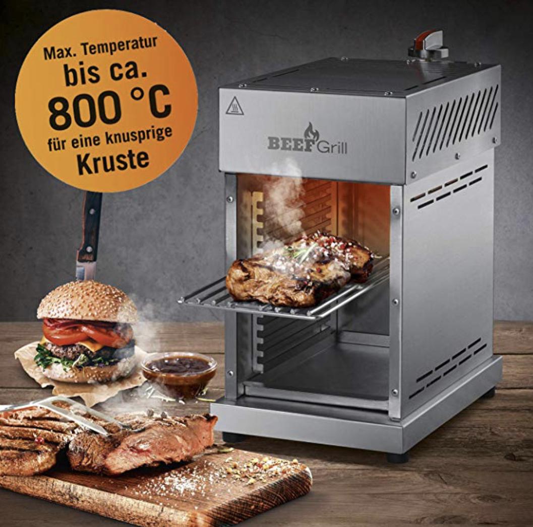 Gas Oberhitzegrill Beef Maker 6-tlg. 800°C für das perfekte Steak für 116,25€ inkl. Versandkosten