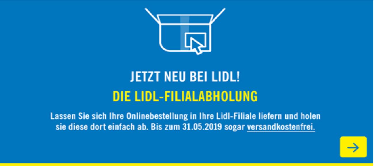 [Regional Süd-/Vorder-/Kurpfalz] LIDL Onlineshop: VSK sparen per Filialabholung