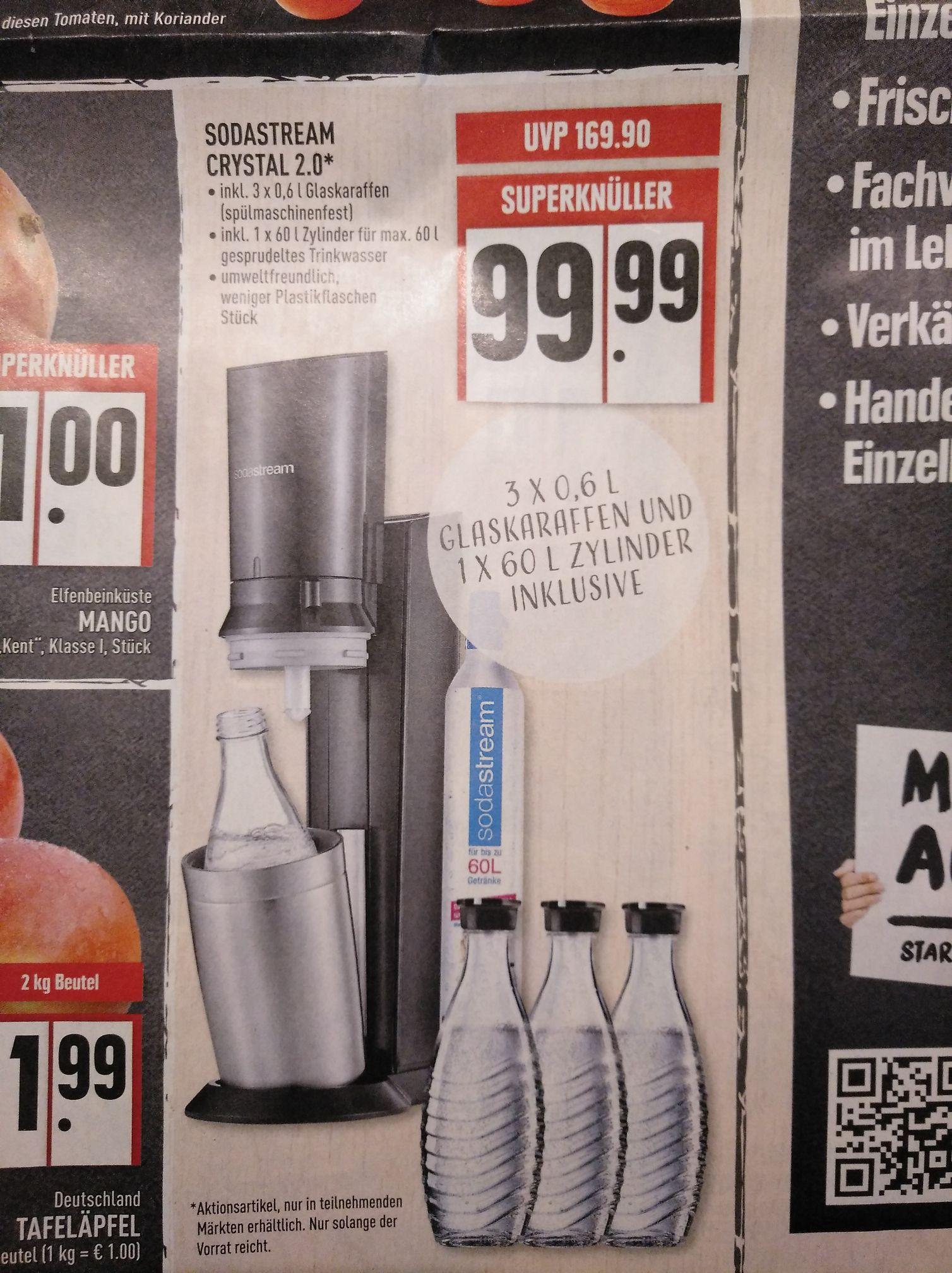 Edeka Rhein Ruhr - Soda Stream Chrystal mit 3 Flaschen