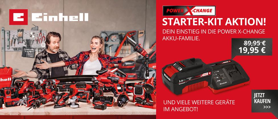 Einhell Starter Kit Power X-Change 3.0Ah Akku & Ladegerät