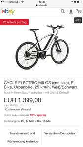 Cycle Electric Milos Ebike Pedelec