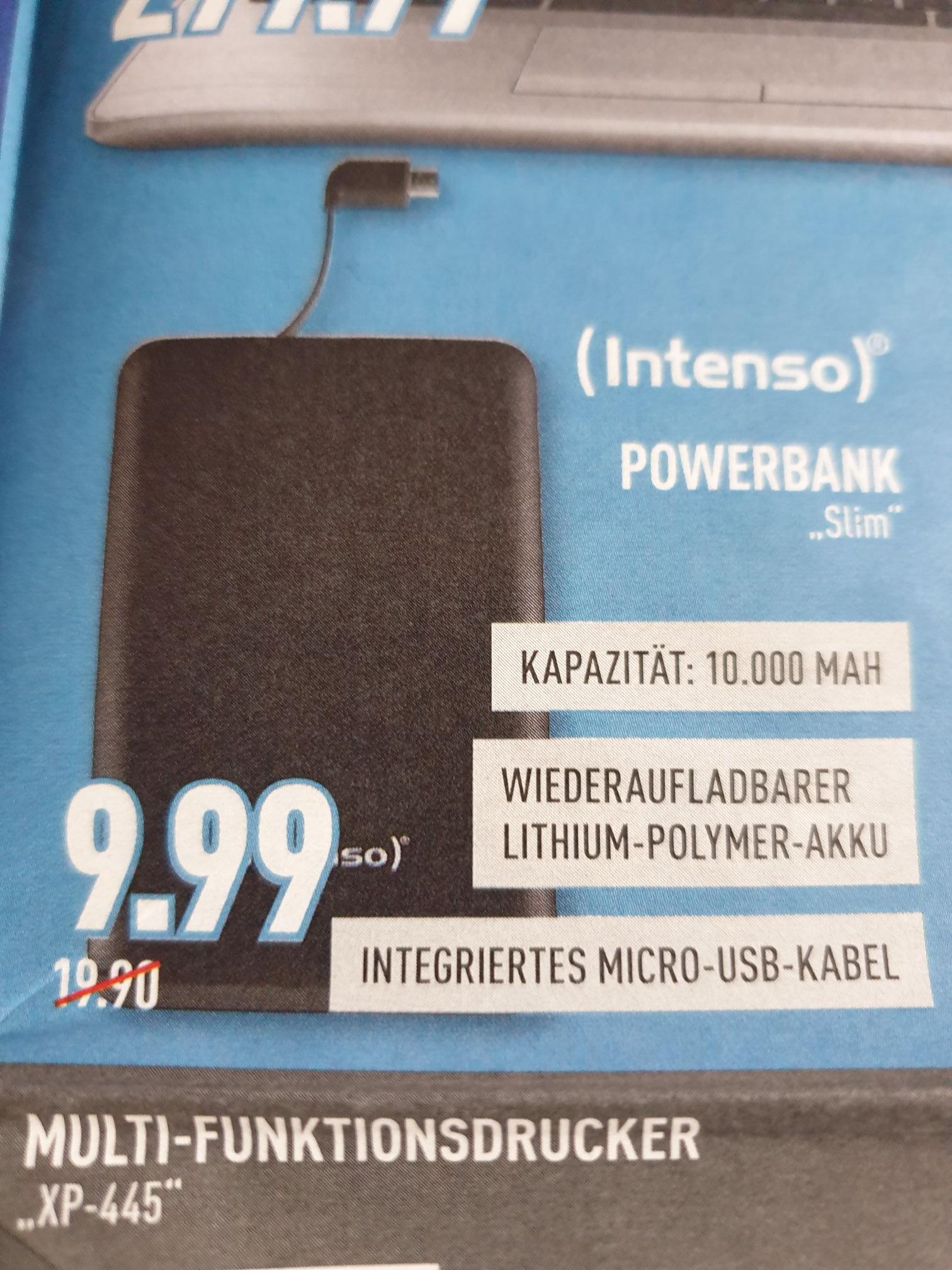 (Marktkauf) Intenso Powerbank Slim 10.000 mAH für 9,99€ (wahrscheinlich lokal  nrw)