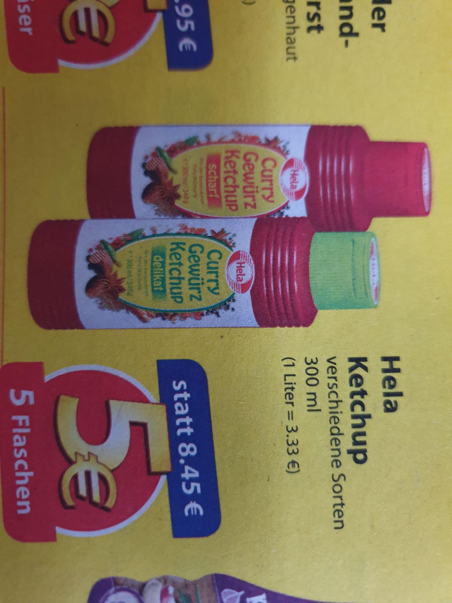 5 x Hela Ketchup verschiedene Sorten (300ml) für 5€ (lokal NRW)