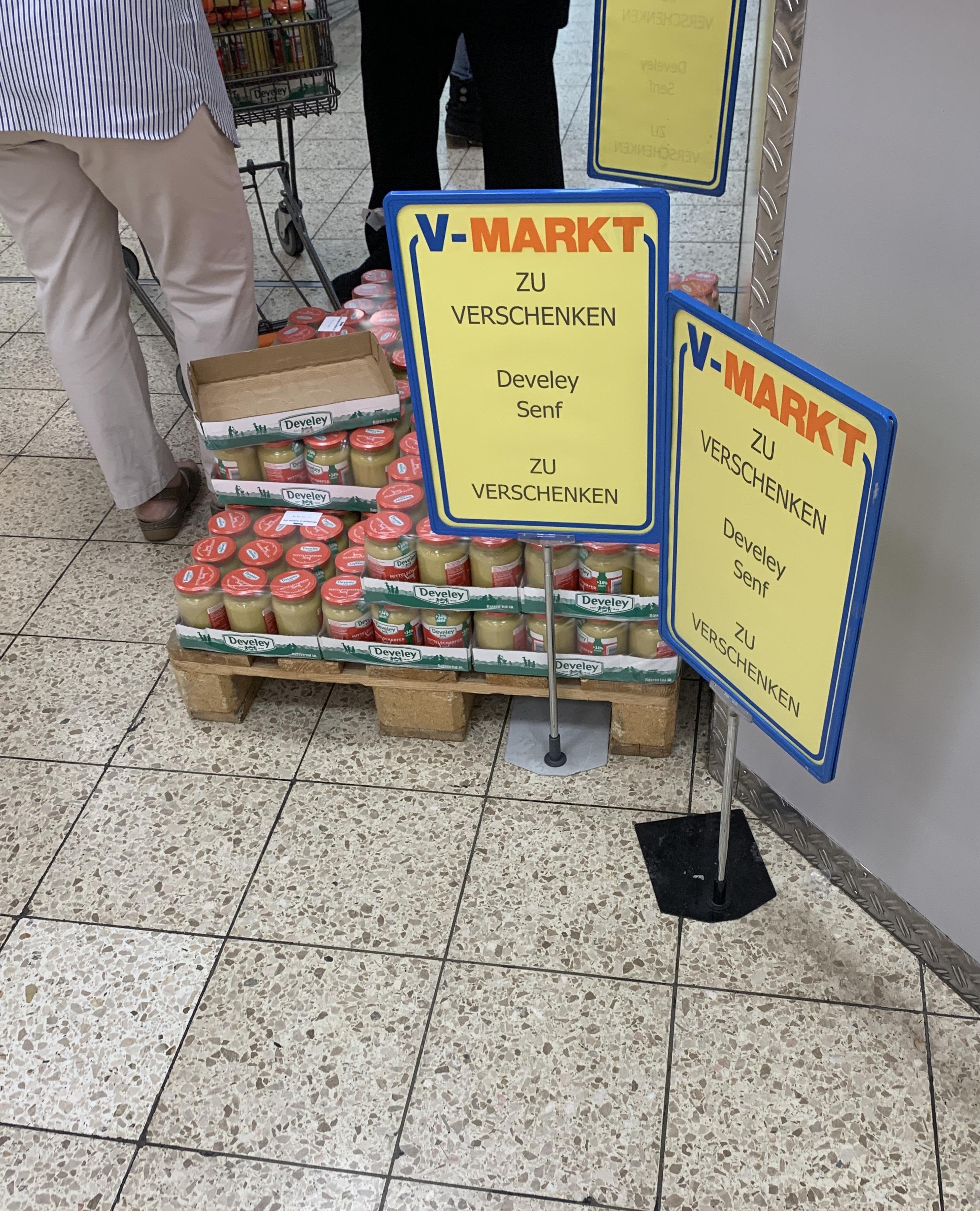 [LOKAL V-Markt München] Develey Senf kostenlos