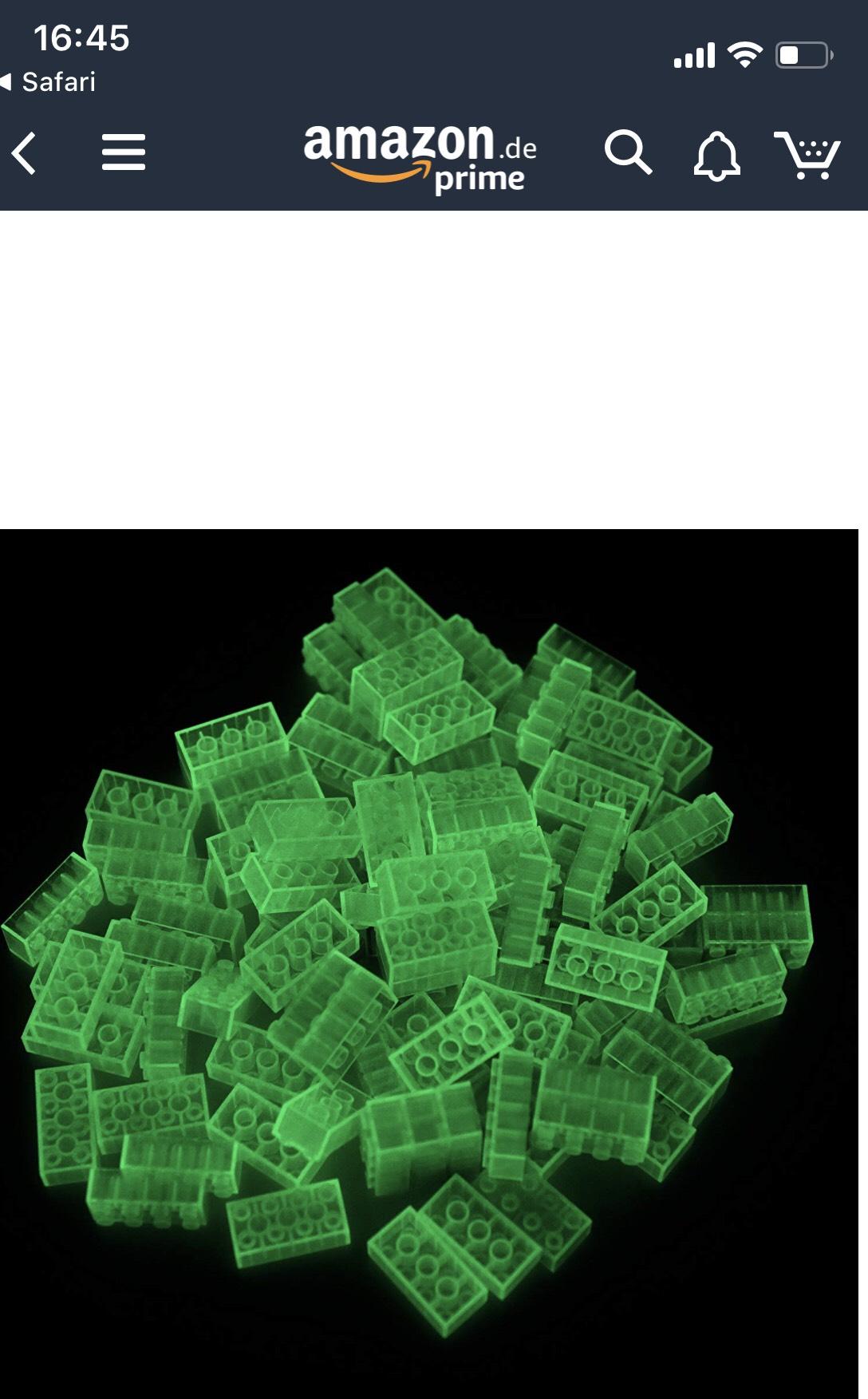 (Amazon Prime) Lego kompatibel - Lumentics Leuchtsteine 100 Stück - in GELB oder 2er Set Basisplatte