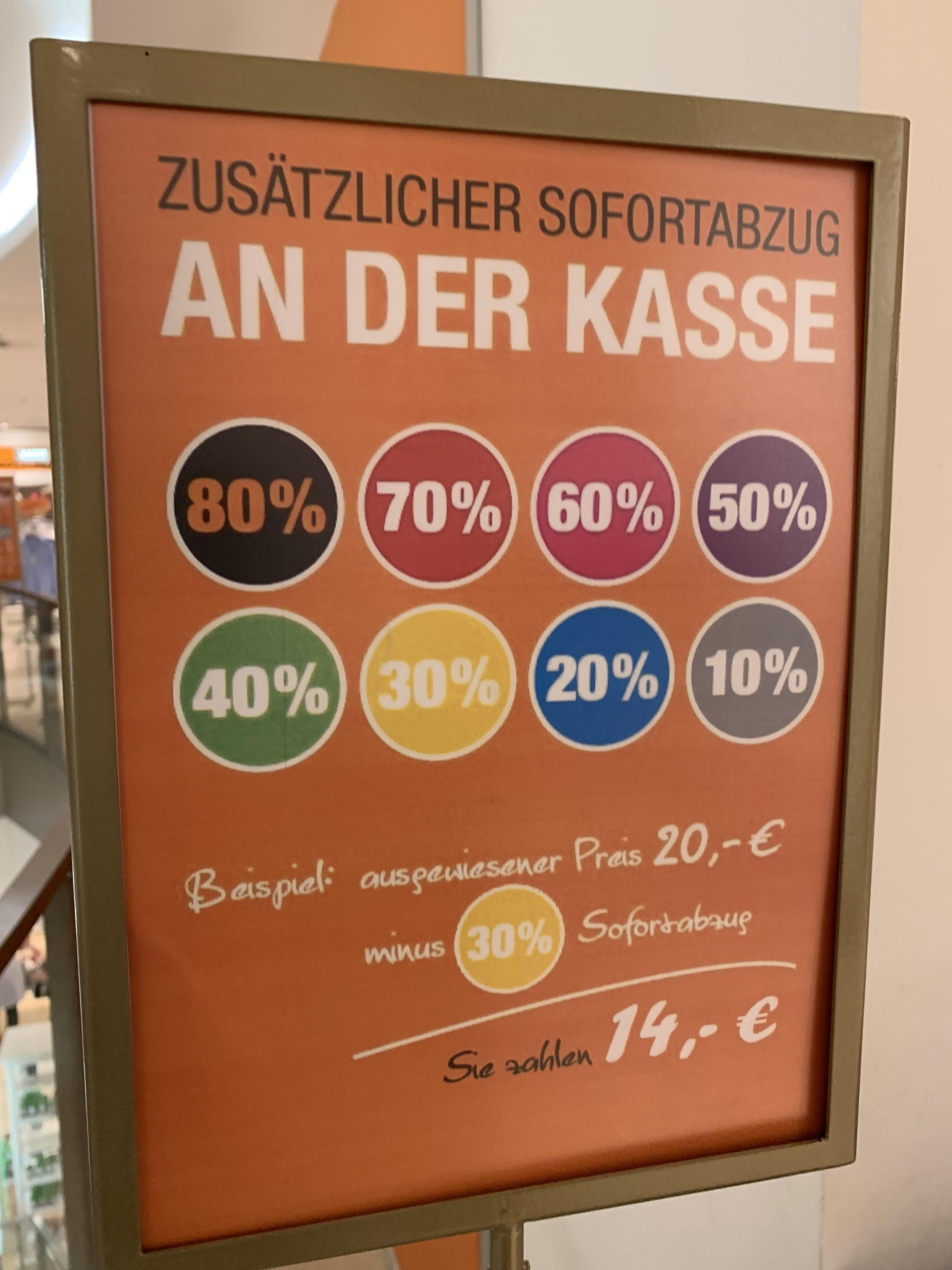 Galeria Kaufhof - Frankfurt Nord West Zentrum 10-80% auf alles!