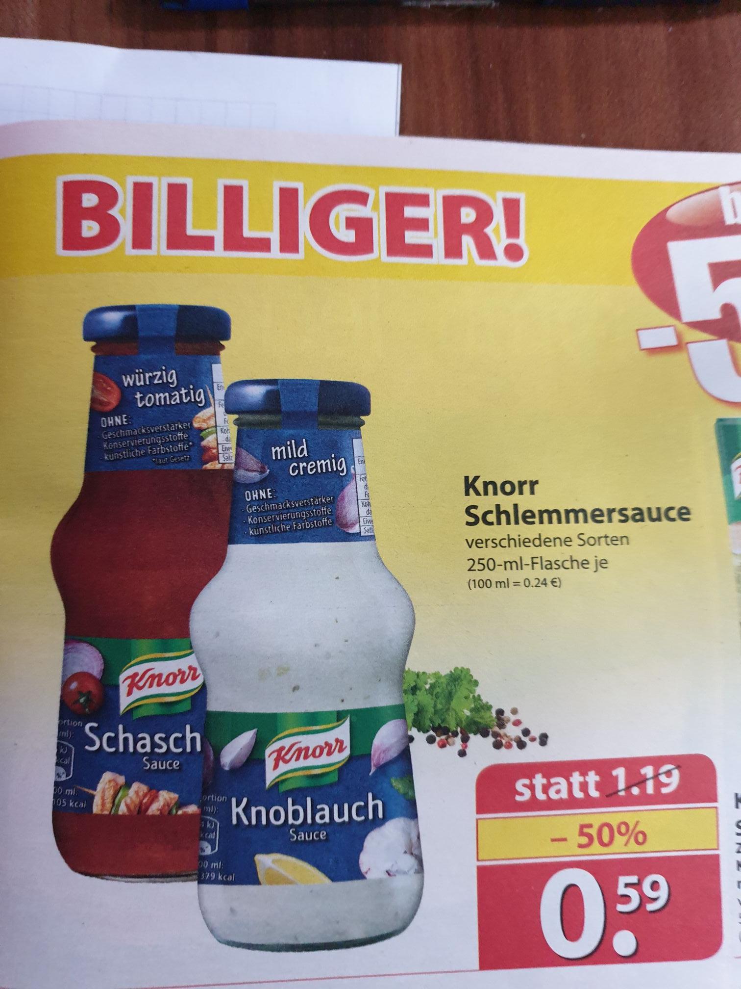 (Famila Nordwest) Knorr Schlemmersauce 250ml verschiedene Sorten für 0,59€