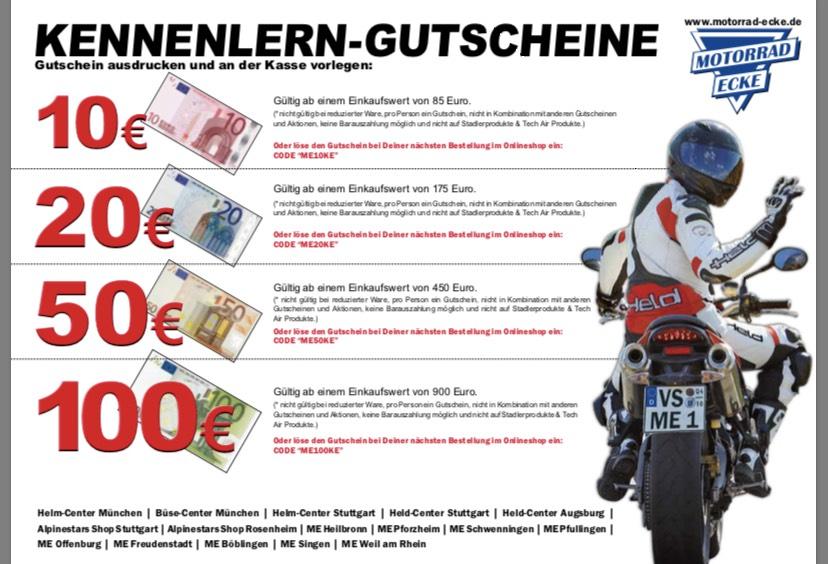 Lokal oder Online MotorradEcke Gutschein