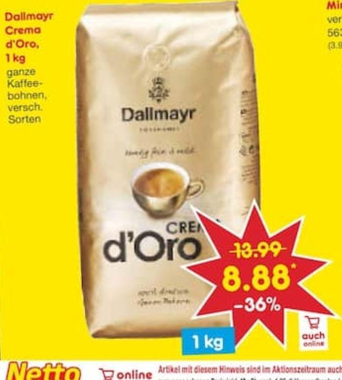 [Netto MD] Dallmayr Crema d'Oro 1kg ganze Kaffeebohnen