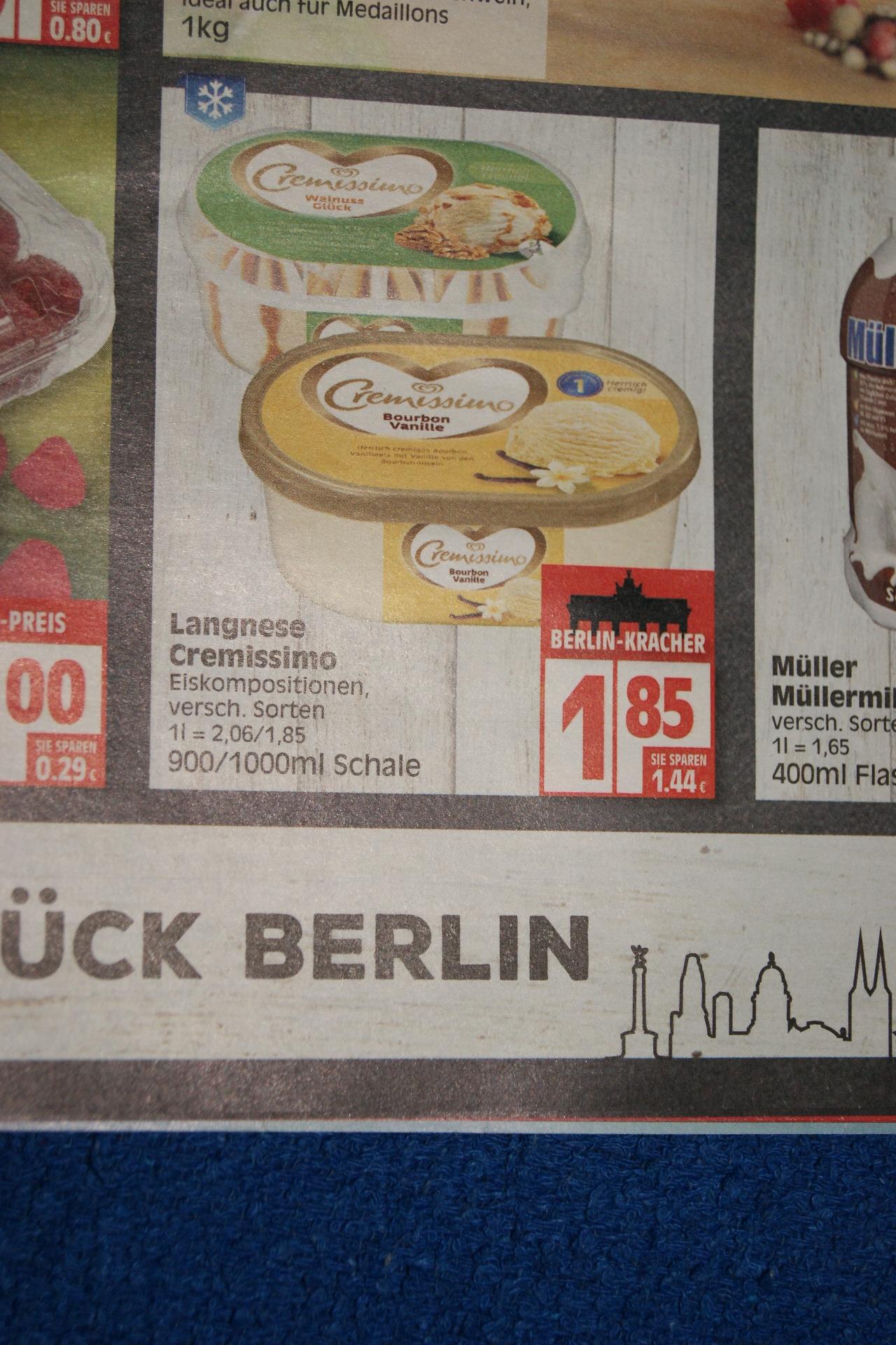 (lokal Berlin) Langnese Cremissimo bei Edeka für 1,85 Euro