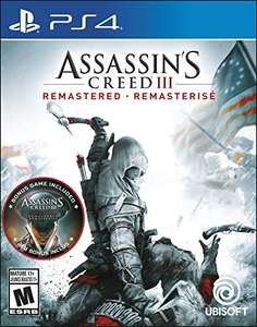 Assassin's Creed III Remastered (PS4 & Xbox One) für je 22,38€ (Amazon US)