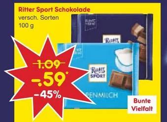[Netto MD & Edeka Rhein Ruhr offline] Ritter Sport - Bunte Vielfalt 100g (13.05. - 18.05.)