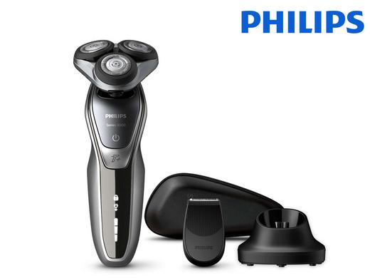"""Philips Wet & Dry Rasierer """"S5940/48"""" (Mit Präzisionstrimmer, Ladegerät und Reisecase) [iBOOD]"""