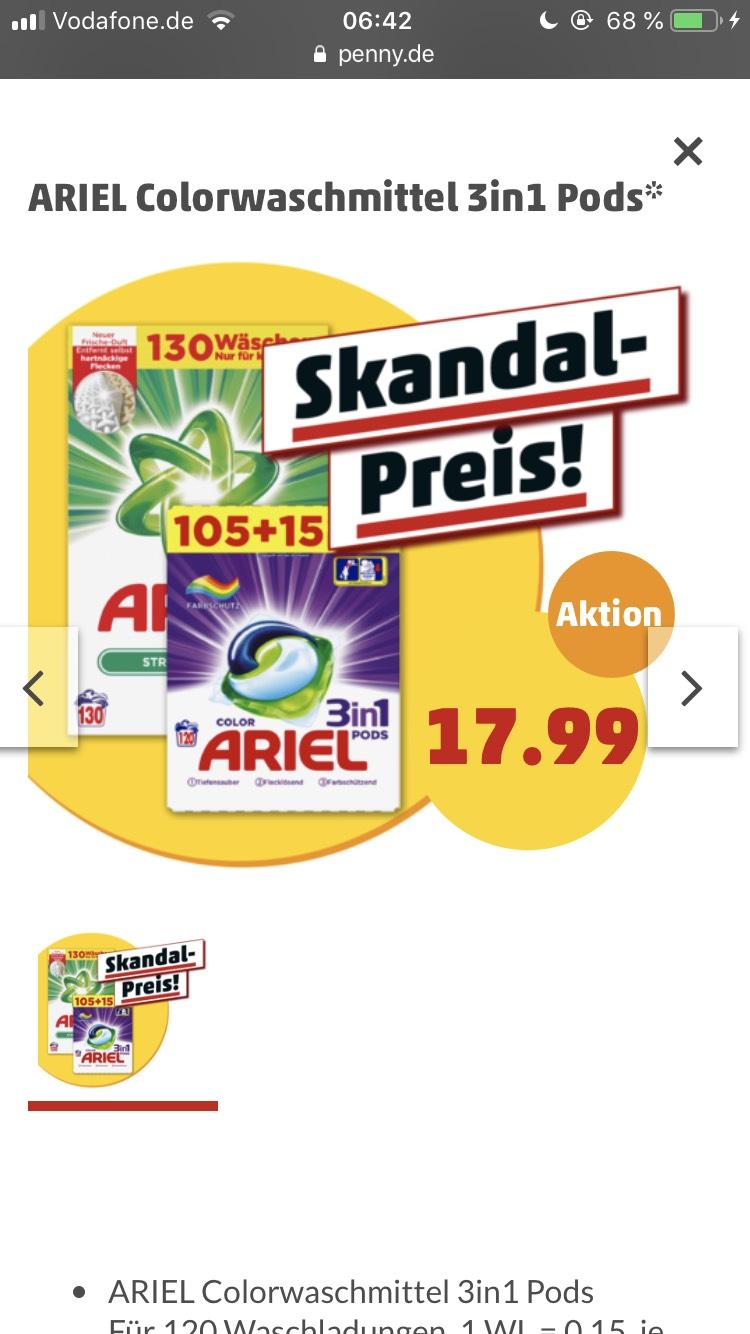 Ariel 120 Waschpods im Angebot
