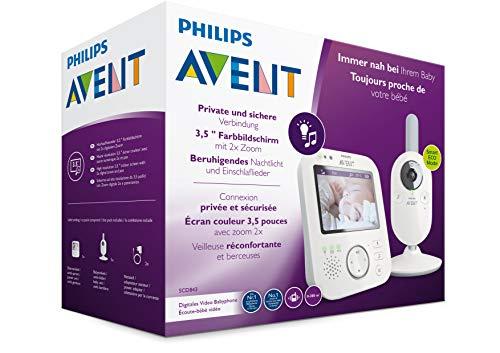 Philips AVENT SCD843/26 Video-Babyphone, 3,5 Zoll Farbdisplay