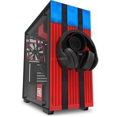 NZXT H700 PUBG Tower-Gehäuse (rot/blau, Tempered Glass) + kostenlose passende Kopfhörer Halterung