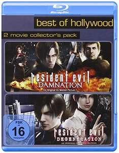 Resident Evil: Degeneration & Resident Evil: Damnation Best of Hollywood 2 Movie Collector's Pack (2 Disc Blu-ray) für 5,97€ (Amazon Prime)