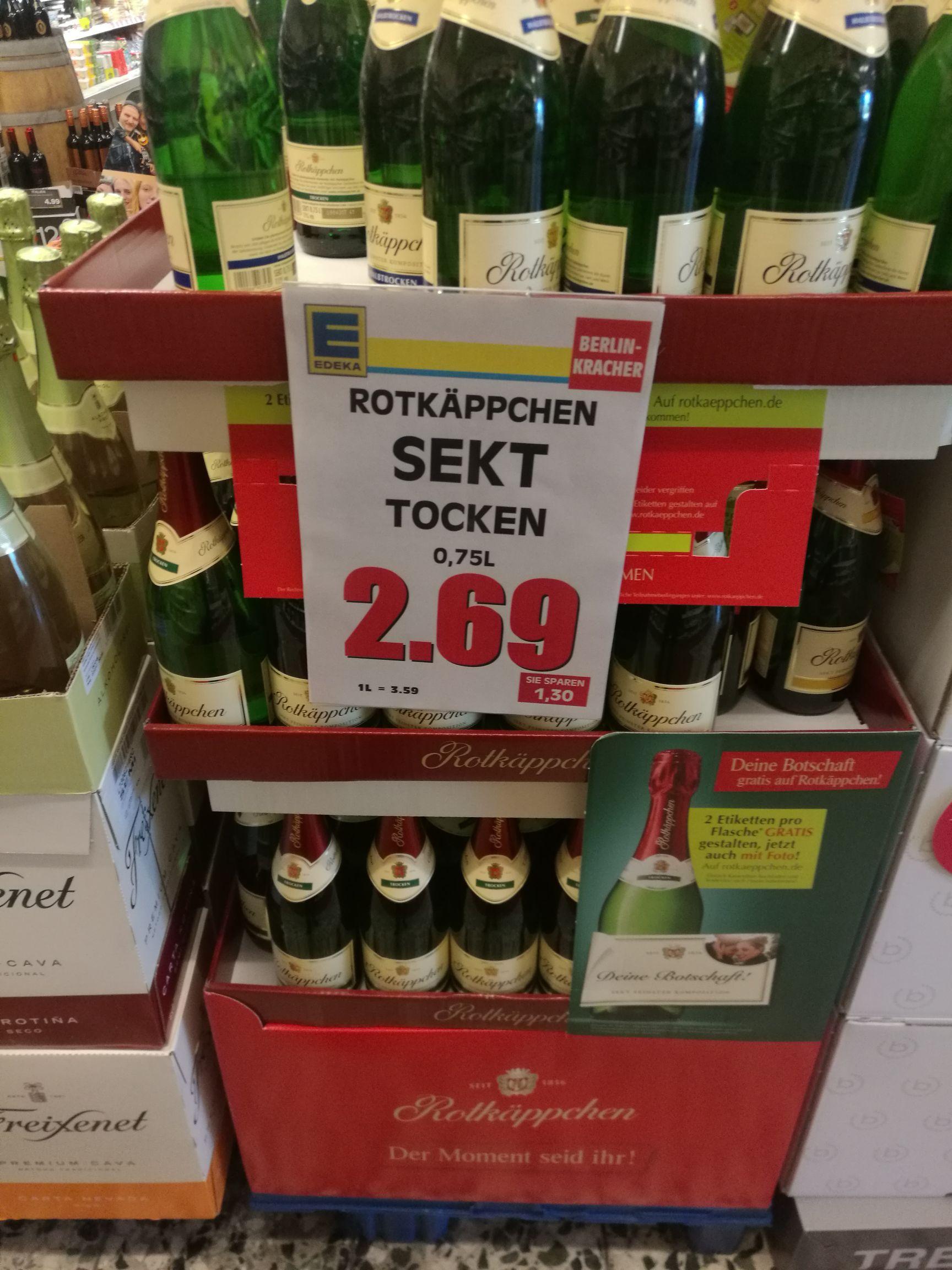 EDEKA Rotkäppchen Sekt 0,75l Trocken/Halbtrocken (Berlin nur die Filiale)