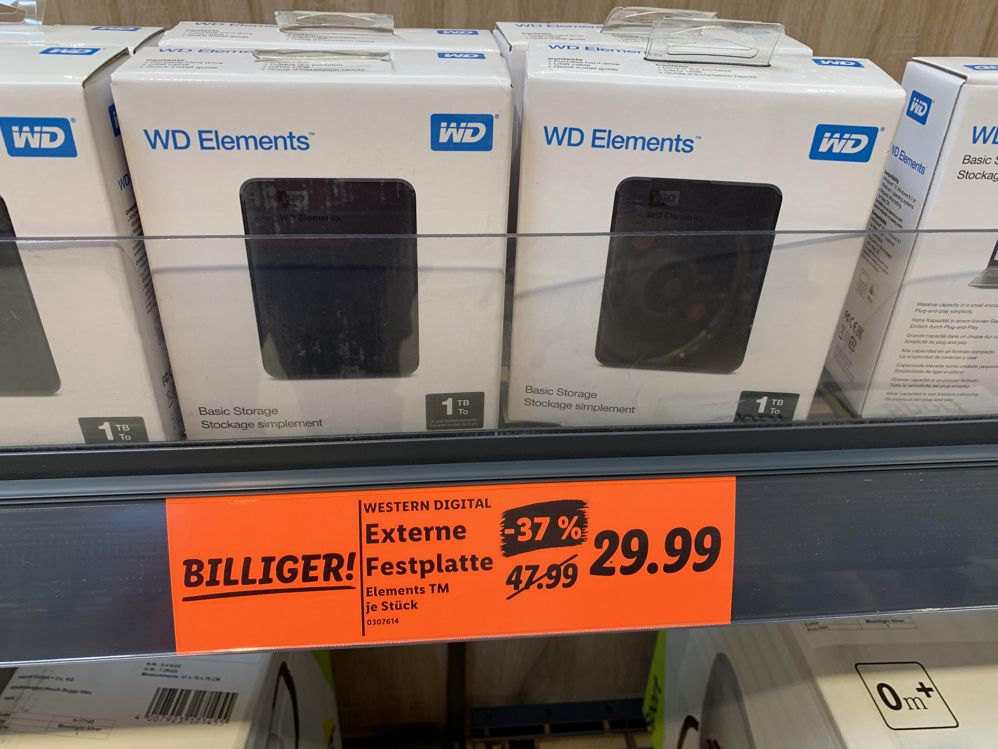 """WD Elements 1TB 2,5"""" [Lidl Lokal Neckarsulm] Western Digital"""