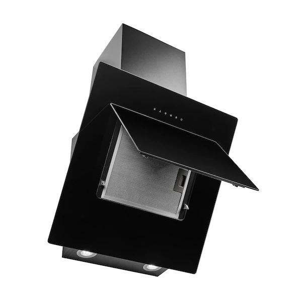 Dunstabzugshaube Medion MD 37411 (EEK A, FFEK C, 4 Stufen bis 800 m³/h, Alu-Fettfilter,2 Aktivkohlefilter, LED-Lampen, 60cm, Wandmontage)