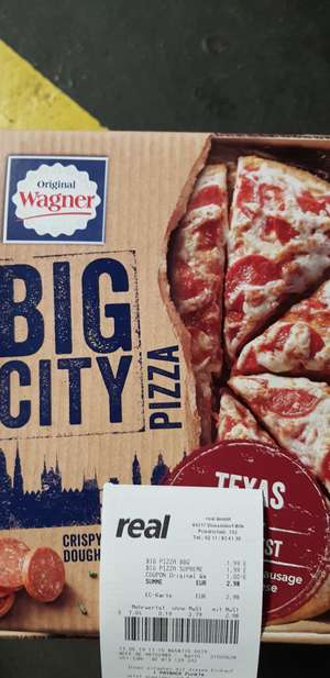[Real] BIG City Pizza + (ehemals BIG Pizza) + Gratis Rustipani für 1,49€ pro Stück
