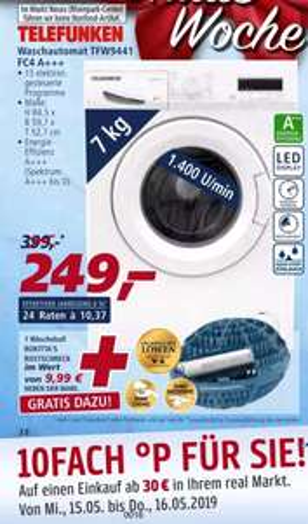 Real Telefunken TFW9441 FC4 Waschmaschine 7kg A
