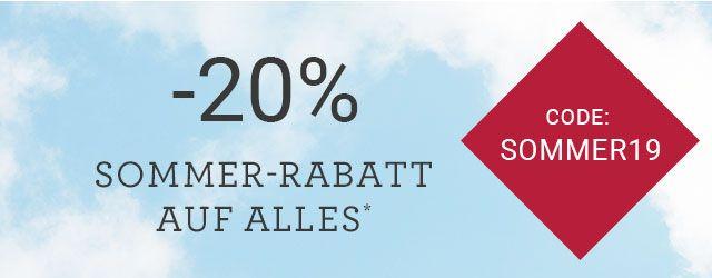 Hessnatur: 20% Sommer Rabatt auf alles (auẞer Stern)