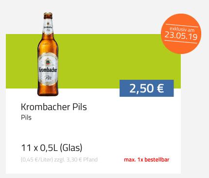 """""""Lokal - Essen"""" Krombacher 11er Kasten als Eröffnungsangebot bei Flaschenpost"""