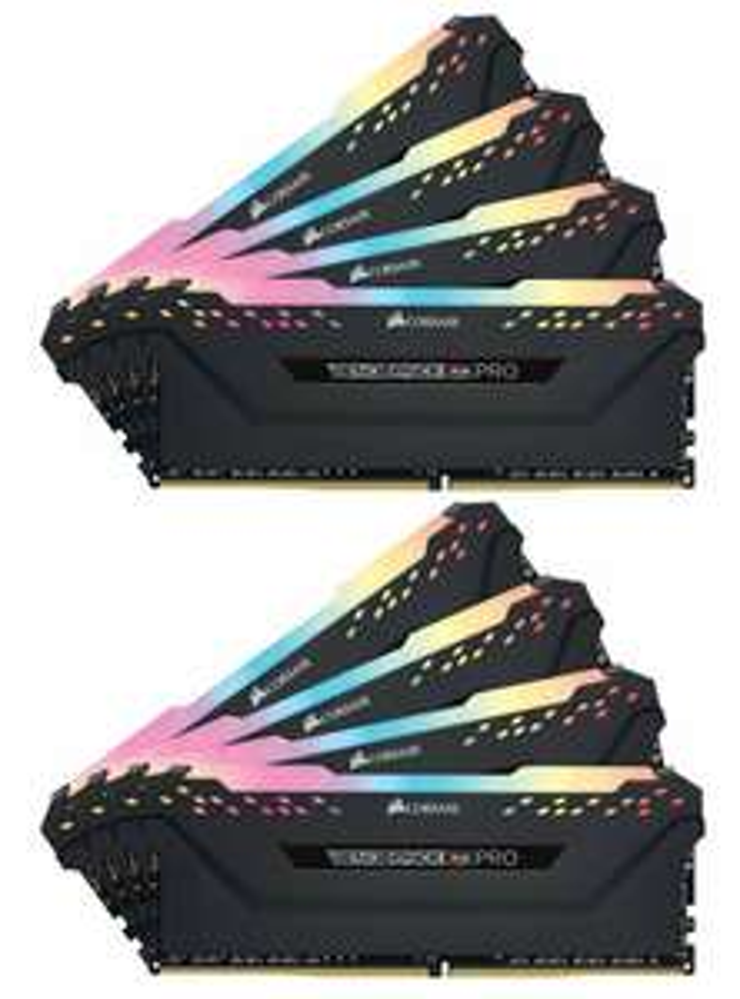 Corsair Vengeance RGB PRO 64GB (8x8GB) DDR4-RAM 3000MHz C15 XMP 2.0 Enthusiast LED Speicherkit - schwarz