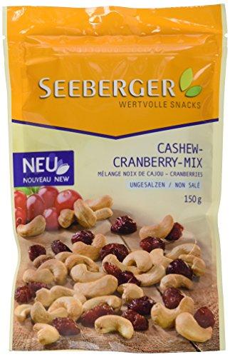 Seeberger Cashew-Cranberry-Mix, 5er Pack (5 x 150 g) (Amazon Prime)