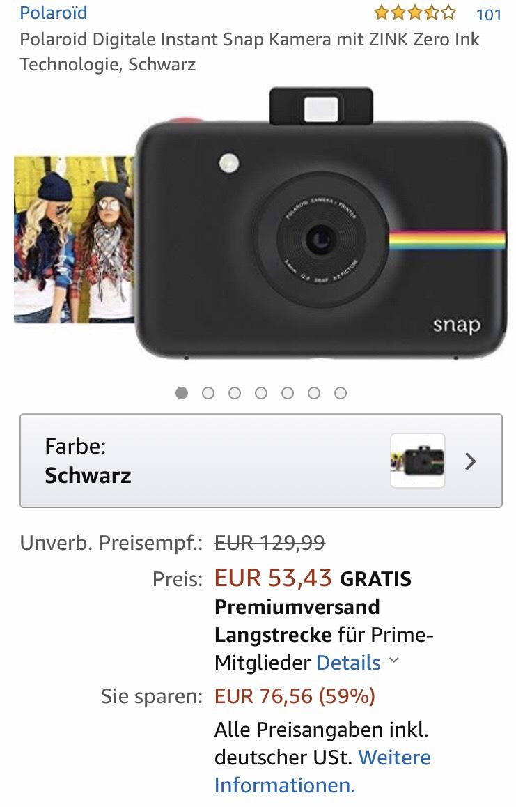 Digitale Sofortbildkamera Polaroid SNAP