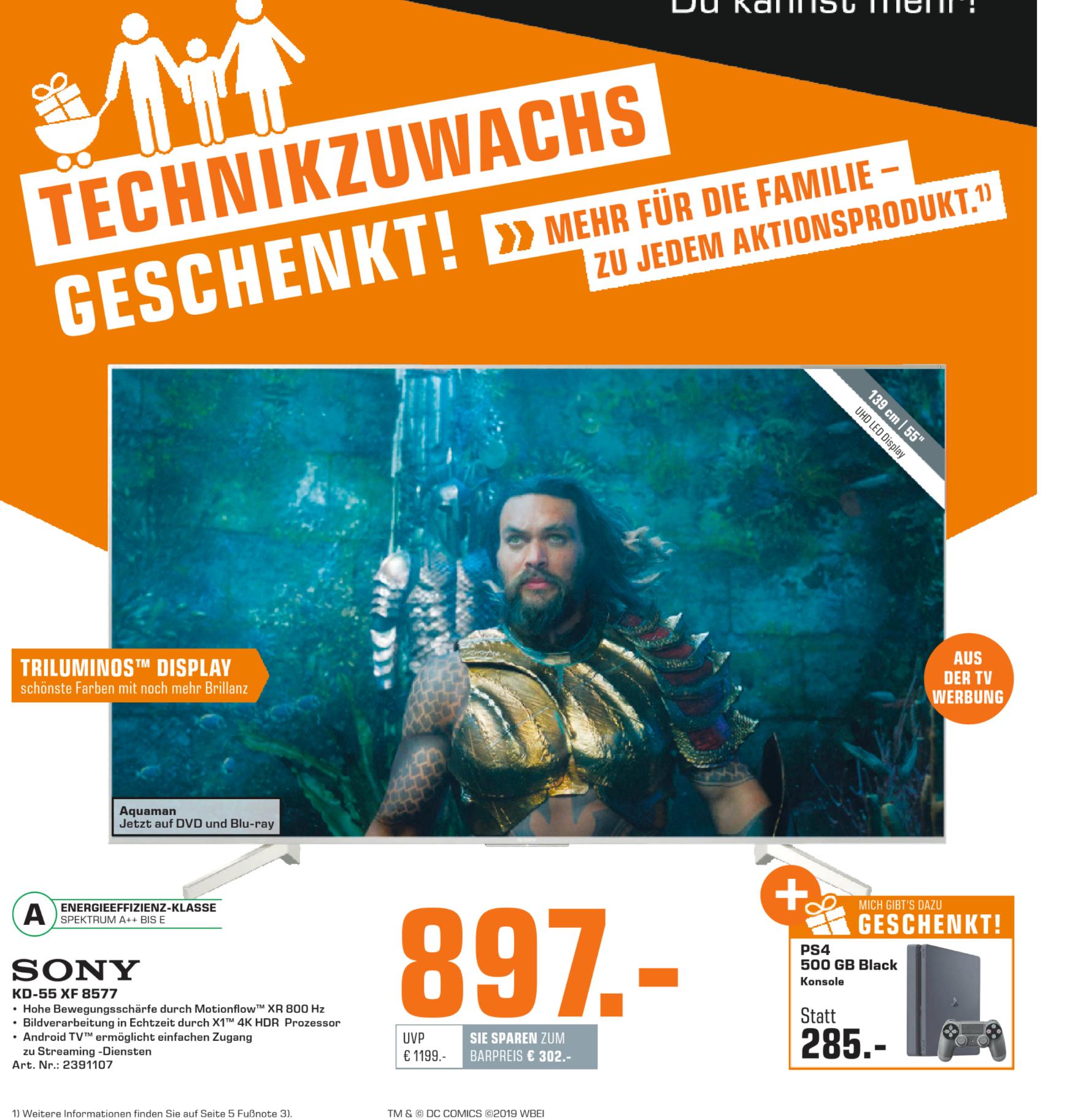 Sony KD-55XF8577 + PS4 Slim 500GB | AVM Fritz!Box 7490 + Fritz!Fon C5 @169€  | Xbox One S 1TB FH4 + Huawei Y7 @211€ | uvm. [Technik Zuwachs]