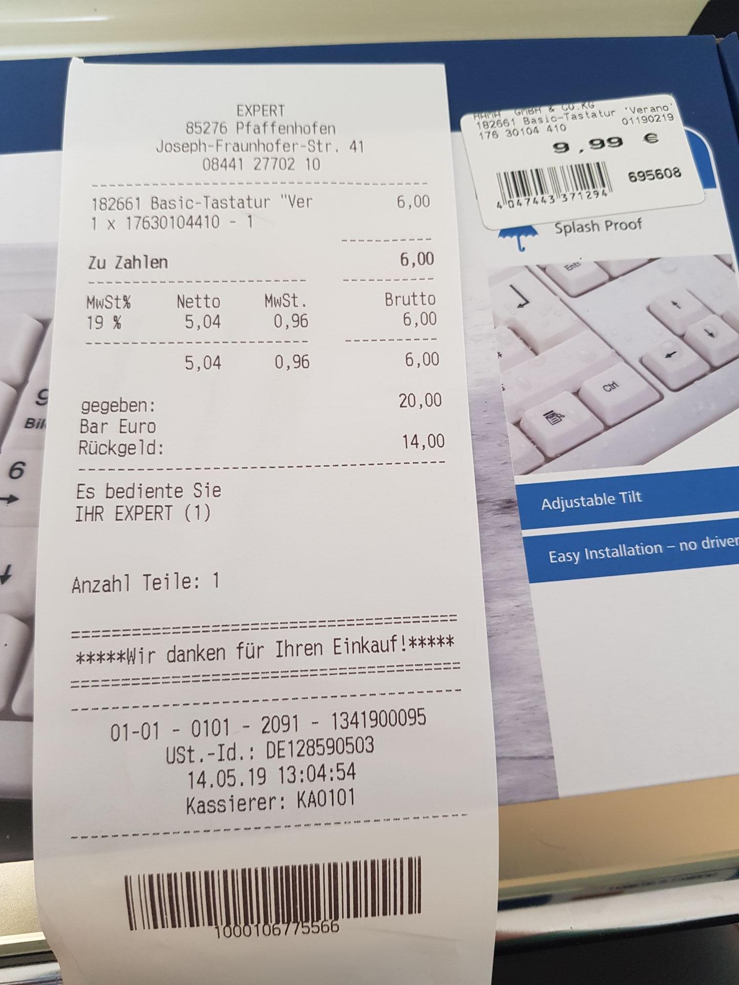 (Lokal?) Hama basic Tastatur verano weiß expert Pfaffenhofen
