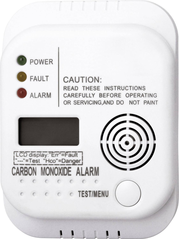 Kohlenmonoxidmelder Smartwares RM370 (EN 50291-zertifiziert, 85dB-Alarmsignal, für Räume bis 40m², inkl. 3x 1.5V DC LR6)