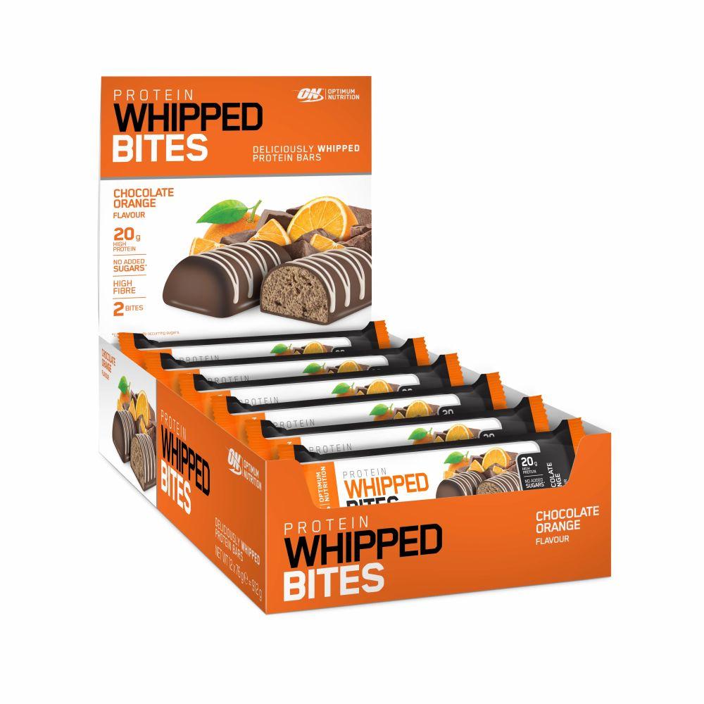 48x 76g Optimum Nutrition Whipped Bites (MHD 31.05., Chocolate Orange) + BBN Hardcore Griffpolster