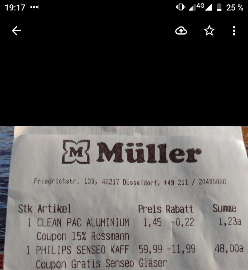 Lokal Müller Düsseldorf Bilk: Volks Viva Café HD 6561 / 69 +Pad Cashback