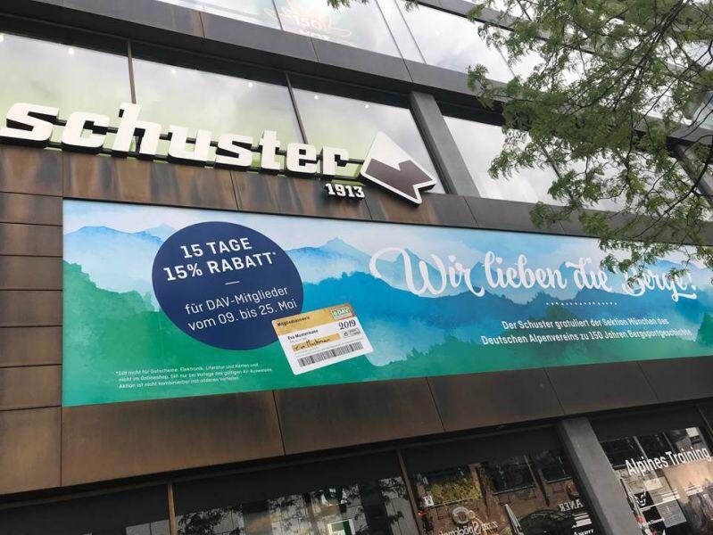 [Lokal] [München] [DAV] 15% auf alles im Sporthaus Schuster für DAV Mitglieder aller Sektionen