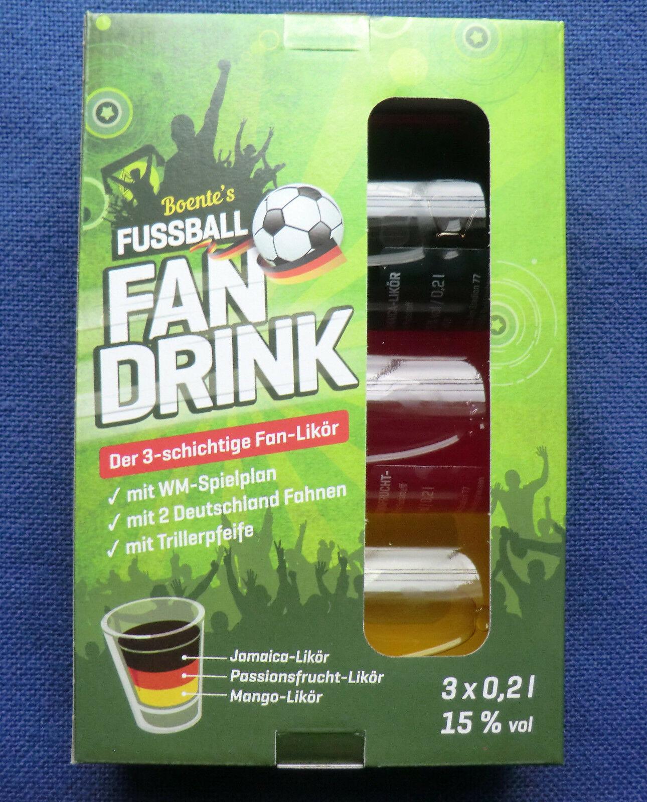 [LOKAL Ratingen, real Markt] Boente Fussball Fan Drink 3 x 0,2l Likör 15% Vol.