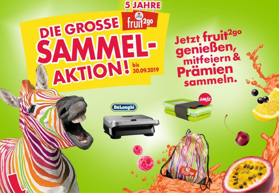 72 Flaschen FrankenBrunnen fruit2go + De'Longhi MultiGrill Easy SW12BC.S als Prämie für 71,28€ exkl. Pfand