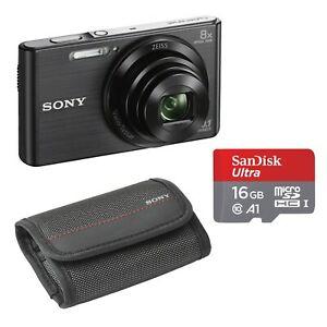 Sony Cyber-shot DSC-W830B mit 16GB SD Karte und Tasche Bundle (Bestpreis)