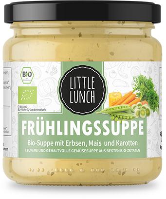 """6er Box Little Lunch Probierbox """"Sommersuppen""""  (Frühlingssuppe, Kartoffelcreme und Champignonsuppe)"""