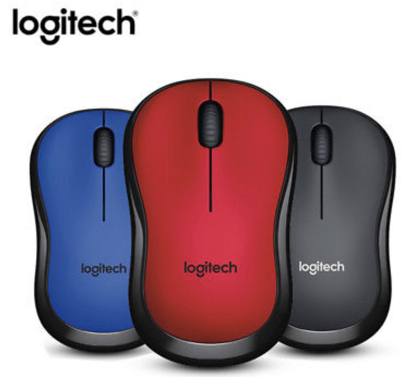 Logitech M220 Silent - kabellose geräuschlose Maus optischer Laser ohne Klickgeräusche beidhändig in 3 Farben für je 9,99€ mit Prime