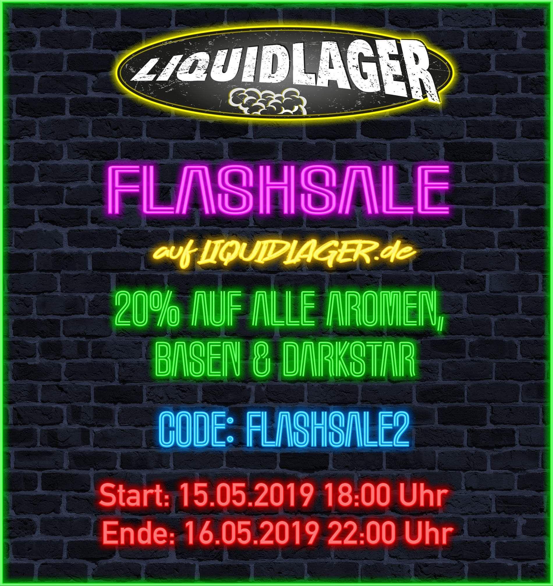 [liquidlager.de] FLASHSALE - 20% auf alle Aromen, Basen und Darkstar