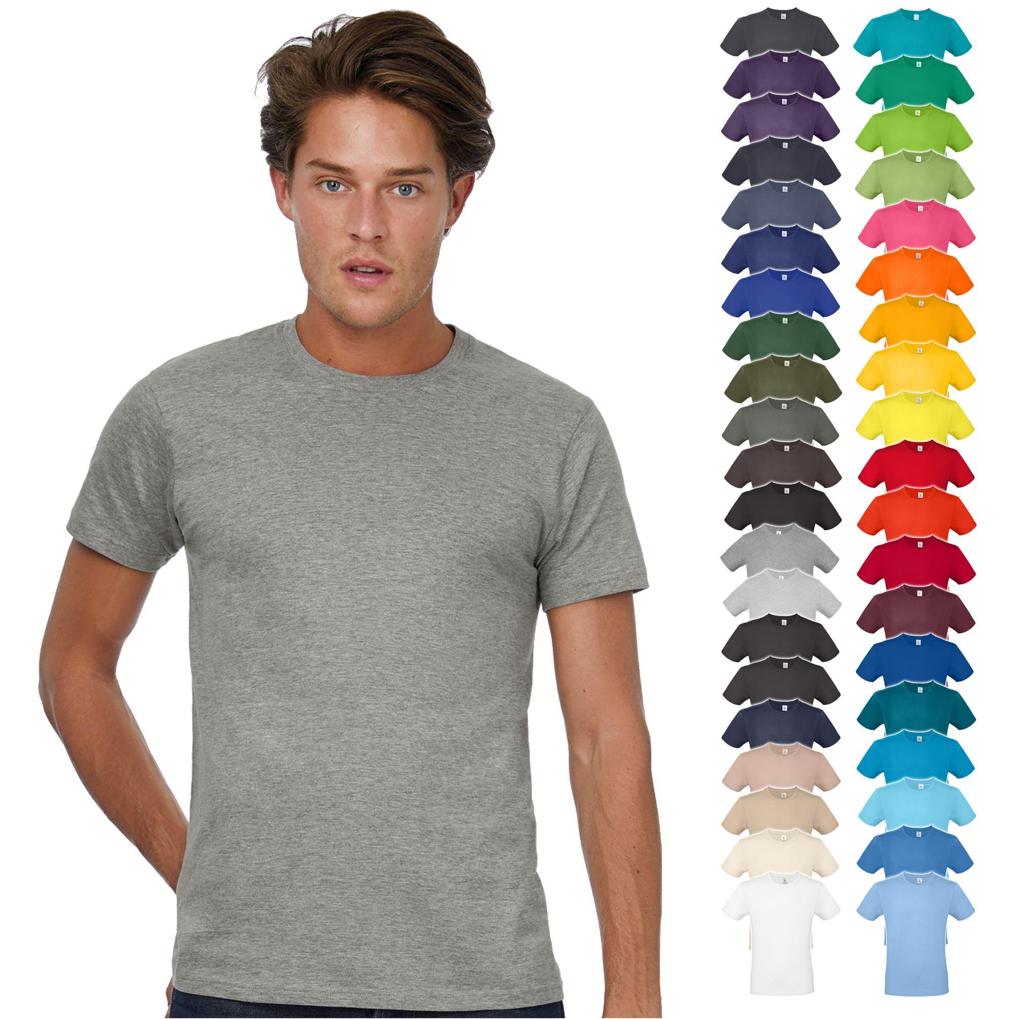 B&C #E150 Basic T-Shirt 10 Stück in verschiedenen Farben & Größen [XS - 2XL]