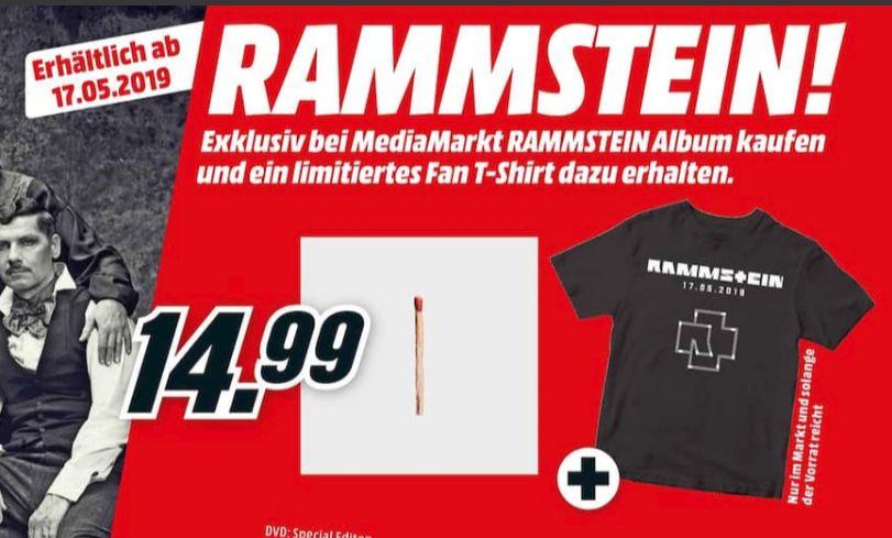 [Mediamarkt-Offline] Rammstein - Rammstein (CD) + Rammstein T-Shirt für 14,99€